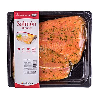 Caladero Salmon fresco filete al curry (para microondas) Bandeja 400 g