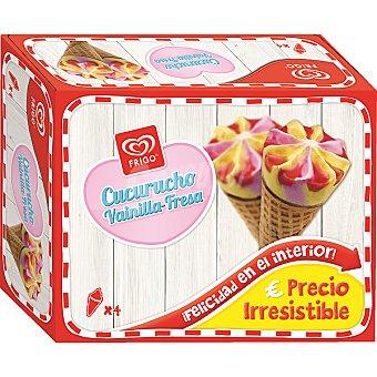FRIGO cucuruchos de vainilla y fresa estuche 440 ml 4 unidades