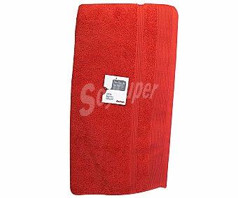 AUCHAN Toalla 100% algodón lisa de baño, color naranja, 100x150 centímetros, densidad de 500 gramos/m² 1 Unidad