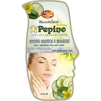 Sys Mascarilla facial peeling pepino limpieza profunda e hidratante Envase 10 ml