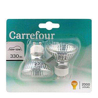 Carrefour Bombillas baja tensión halogenas 50W 2 ud