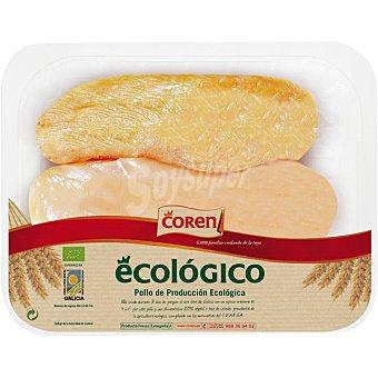 Coren Filetes de pechuga de pollo ecológico  Bandeja de 400 g peso aproximado