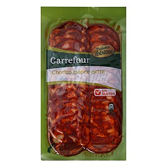 Carrefour Chorizo Ibérico en lonchas - Sin Gluten 100 g