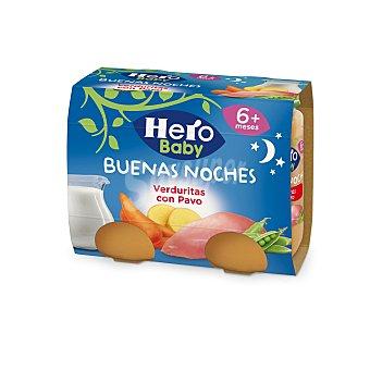 Hero Baby Buenas Noches Tarrito de verduritas con pavo desde 6 meses Pack 2 x 190 g