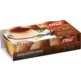 Dhul Flan de coco Pack 4 unidades 110 g