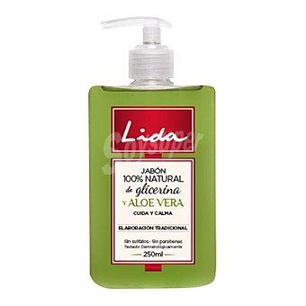 Lida Jabón líquido natural de aloe vera con glicerina 250 ml