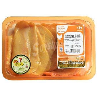 Carrefour Pechuga de pollo certificado fileteada 600 g aprox