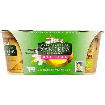 Casa Grande de Xanceda Yogur bífidus con mango y vainilla Pack 2 unidades 125 g
