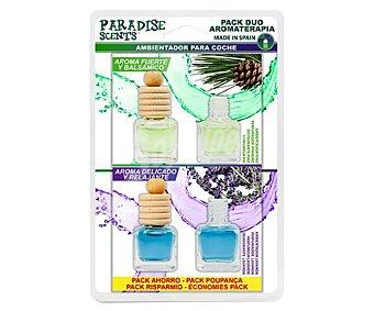 Paradise scents Ambientador de coche con perfumador para colgar con olor a pino y lavanda scents