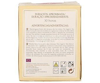 Cristalinas Vela de cera natural aroma vainilla 1 unidad
