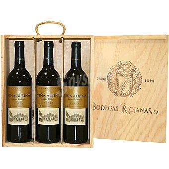 Viña Albina Vino tinto reserva D.O. estuche de madera 3 botellas 75 cl