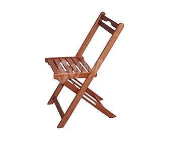 PLOOS Silla plegable para jardín modelo Kreta. Fabricada en madera de Acacia 100% FSC y 48.5x42x77 centímetros 1 unidad