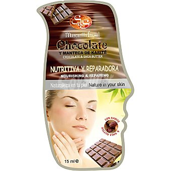 Sys Mascarilla facial chocolate y manteca de karité nutritiva & reparadora Envase 15 ml