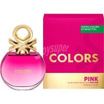 United Colors of Benetton Eau de toilette para mujer Colors Pink vapor. 80 ml
