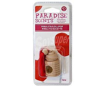 Paradise scents Ambientador de coche con perfumador de madera para colgar con olor a piruleta scents