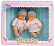 Bebés gemelos barriguitas.  Barriguitas