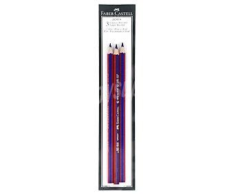 Faber Castell Lote de 3 lápices de grafito, con cuerpo azul y rojo y punta bicolor (azul-rojo) faber-castell 3u
