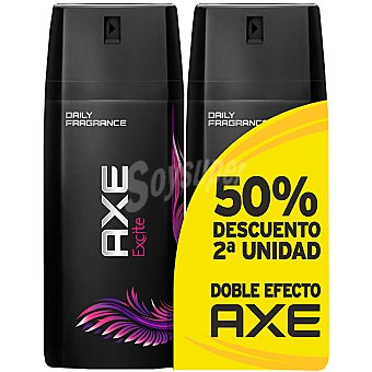 Axe Desodorante Excite pack 2 spray 150 ml ( pack precio especial 2ª unidad... Pack 2 spray 150 ml
