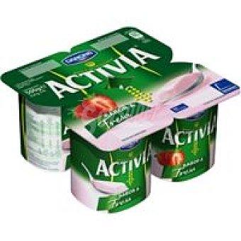 Activia Danone Activia sabor fresa 4X125g