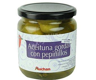 Auchan Aceitunas gordal con pepinillos extra 180 gramos