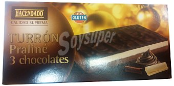 Hacendado Turron praline 3 chocolates Pastilla 200 g