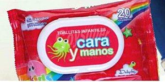 Deliplus Papel higienico humedo toallitas wc infantiles Paquete 125 u