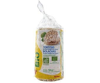 Auchan Bio Tortitas de Arroz Integral con Sésamo Ecológico 100 Gramos