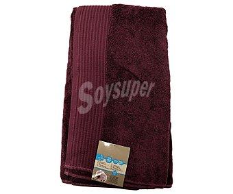 Auchan Toalla para baño de algodón egipcio, 630 gramos/m², color morado, 100x150 centímetros 1 Unidad