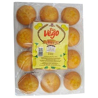 TIA VEGO Magdalenas sabor limón paquete 280 g Paquete 280 g