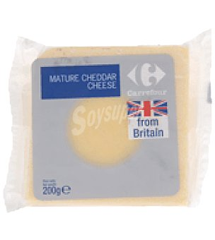 Carrefour Queso cheddar maduro from britain 200 g