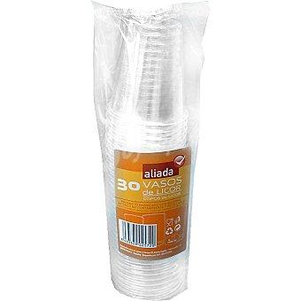 Aliada Vaso transparente de licor 10 cl paquete 30 unidades Paquete de 30 unidades