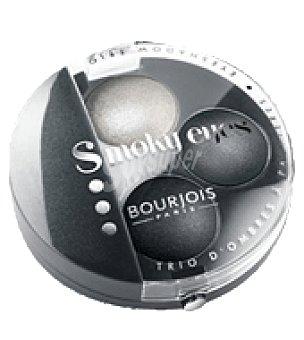 Bourjois Paris Sombra de ojos triosmoky nº 01 gris dandy 1 ud