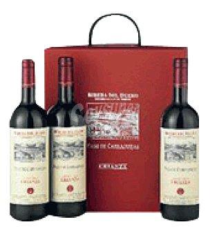 Pago de Carraovejas Estuche cartón con 3 botellas de vino D.O. Ribera del Duero 75 cl