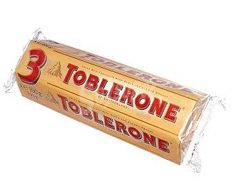 Toblerone Barrita de chocolate con leche, miel y almendras 3 uds. 100 g