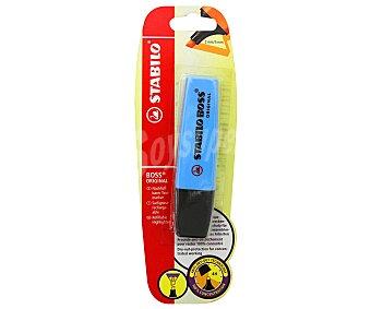 STABILO BOSS Marcador fluorescente, punta biselada con grosor de trazo de 2 a 5 milímetros y tinta con tecnología antisecado azul 1 unidad