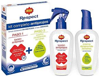 Orion Kit antipiojos loción + crema desprende liendres Sin Insecticidas 2 ud