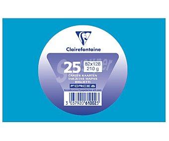 Clairefontaine Tarjetas de visita de tamaño 82 x 128 milímetros, peso de 210 gramos y de color turquesa 25 unidades