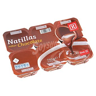 DIA Natillas chocolate Pack 6 unidades 125 gr