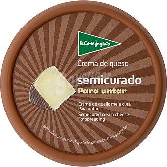 El Corte Inglés crema de queso semicurado tarrina 125 g