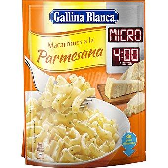 Gallina Blanca Macarrones a la parmesana micro 4 minutos Sobre 89 g