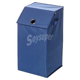 CASACTUAL Cesto de ropa con tapa en color azul 70 l 70 l