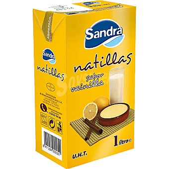 Sandra Natillas sabor vainilla Envase 1 l