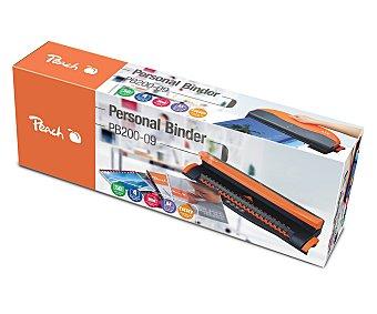 Peach Encuadernadora de canutillo de plástico de hasta 12 milímetros, ideal para uso personal. Es capaz de perforar hasta 4 hojas y encuadernar hasta 50 hojas de 80 gramos 1 unidad