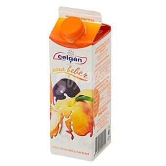 Celgán Yogur líquido sabor melocotón y maracuyá Envase 450 g