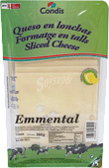 Condis Queso emmental lonch 200 GRS