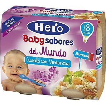 Hero Baby Tarrito de cuscús con verduritas sabores del mundo. Desde 8 meses pack 2 x 190 g