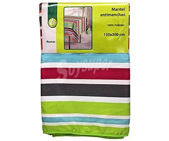 Productos Económicos Alcampo Mantel antimanchas estampado rayas 100% poliéster, 150x200 centímetros 1 Unidad