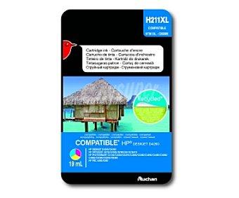 Auchan Cartucho de Tinta Color N°351XL (H211XL) - Compatible con impresoras: HP deskjet D4260 / D4360 - HP officejet J5730 / J5780 / J5785 / J6410 / J6415 - HP photosmart C2130 / C4250 / C4270 / C4280 / C4380 / C4390 / C4480 / C4580 / C4585 / C5280 / C5280 / C5290 / D5360 - HP PSC 4480 / 5280