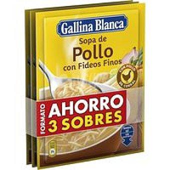 Gallina Blanca Sopa de pollo con fideos Pack 3x97 g