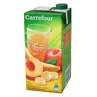 Carrefour Néctar de melocotón y plátano 1 l